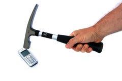 Odio del teléfono celular Imagen de archivo libre de regalías