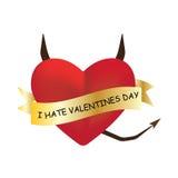 Odio il giorno di biglietti di S. Valentino Illustrazione di Stock