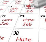 Odio Job Calendar Shows Loathing Work y Imagen de archivo