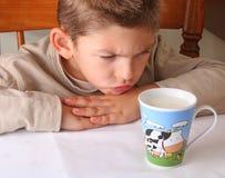 Odio la leche Fotos de archivo libres de regalías
