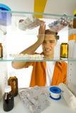 Odio los medicamentos Fotos de archivo libres de regalías