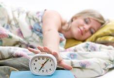 Odio los relojes de alarma Fotografía de archivo libre de regalías