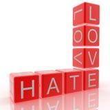Odio y amor Fotografía de archivo libre de regalías