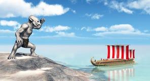 Odiseo en el Cyclopes Fotos de archivo libres de regalías
