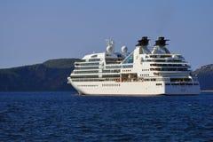 Odisseia luxuosa de Seabourn do navio de cruzeiros Foto de Stock Royalty Free