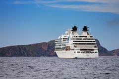 Odisseia luxuosa de Seabourn do navio de cruzeiros Fotos de Stock Royalty Free