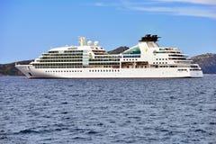 Odisseia luxuosa de Seabourn do navio de cruzeiros Fotografia de Stock Royalty Free