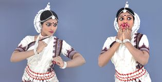 Odissi dancer of indian origin Royalty Free Stock Images