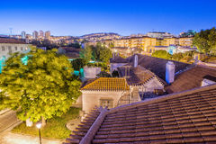 Odivelas, Portugal. Beautiful evening view. District of Lisbon Royalty Free Stock Photos