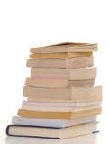 odizolować książki Obraz Stock