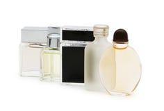 Odizolowywać butelki pachnidło Fotografia Royalty Free
