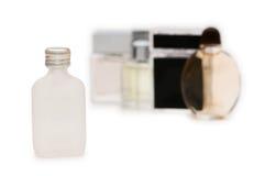 Odizolowywać butelki pachnidło Zdjęcie Royalty Free