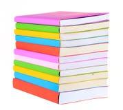 Odizolowywać kolorowe książki Zdjęcie Royalty Free