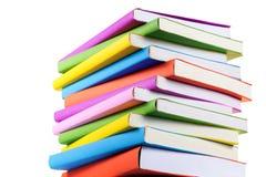 Odizolowywać kolorowe książki Fotografia Stock
