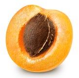 odizolowywać morelowe owoc obraz stock