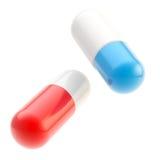 Odizolowywać na biel medycyn pigułki Fotografia Royalty Free