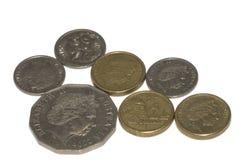odizolowywać australijskie monety Fotografia Stock