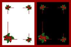 odizolowywać Boże Narodzenie ramy Zdjęcie Stock