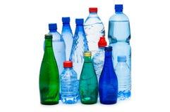 Odizolowywać butelki woda Zdjęcia Royalty Free