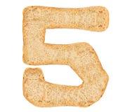 Odizolowywa chleb liczbę Fotografia Stock