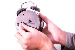 Odizolowywa kobiety ręka jest utworzeniem osiąga alarm Zdjęcia Royalty Free