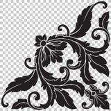 Odizolowywa narożnikowego ornament w baroku stylu ilustracja wektor