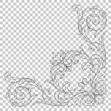 Odizolowywa narożnikowego ornament Obraz Stock
