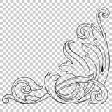 Odizolowywa narożnikowego ornament w baroku stylu Zdjęcia Stock