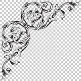 Odizolowywa narożnikowego ornament w baroku stylu Zdjęcie Stock