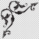 Odizolowywa narożnikowego ornament w baroku stylu Obraz Royalty Free