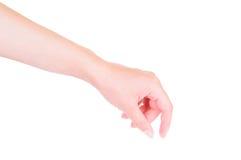 Odizolowywająca żeńska ręka fotografia stock