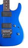 odizolowywająca błękitny gitara elektryczna Fotografia Stock