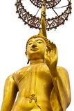 Odizolowywająca Buddha złota statua Obrazy Royalty Free