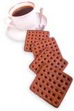 odizolowywająca ciastko kawowa filiżanka Obrazy Stock