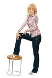 odizolowywająca elegancka dziewczyna zdjęcie stock
