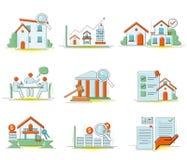 Odizolowywająca na białym tle domowa sieci ikona chłodno i gorąca [] ilustracja wektor