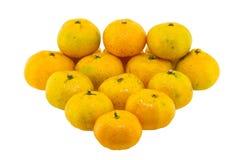Odizolowywająca na biel pomarańcze owoc Obraz Stock