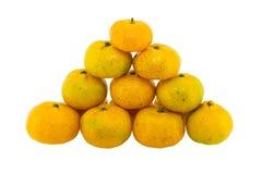 Odizolowywająca na biel pomarańcze owoc Obrazy Royalty Free