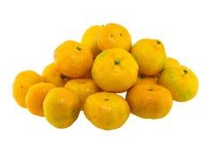 Odizolowywająca na biel pomarańcze owoc Zdjęcia Stock