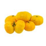 Odizolowywająca na biel pomarańcze owoc Zdjęcie Stock