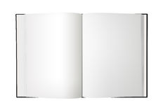 Odizolowywająca Otwarta puste miejsce Książka - XL Obraz Stock