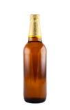 odizolowywająca piwna butelka Zdjęcia Stock
