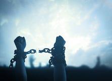 odizolowywająca pojęcie czarny wolność zdjęcia royalty free