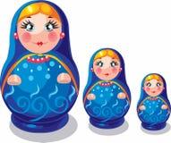 odizolowywająca tło lala gniazdował przedmiota biel rosyjskiego pamiątkarskiego Obraz Royalty Free