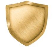 Odizolowywająca złota osłona metalu grzebień lub Zdjęcia Stock