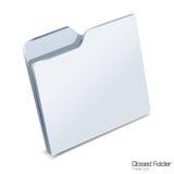 odizolowywająca zamknięta skoroszytowa ikona Zdjęcie Stock