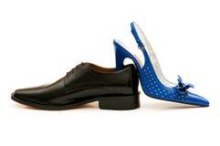Odizolowywającego dwa buta Fotografia Royalty Free