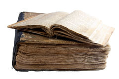 Odizolowywającej dwa antycznej książki Zdjęcia Royalty Free