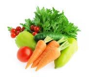 Odizolowywający świezi warzywa Zdjęcia Royalty Free