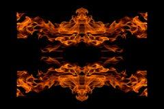 odizolowywający abstrakcjonistyczny pożarniczy płomień Zdjęcie Royalty Free